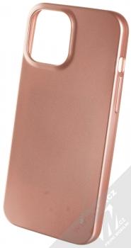 Goospery i-Jelly Case TPU ochranný kryt pro Apple iPhone 12 Pro Max růžově zlatá (metal rose gold)