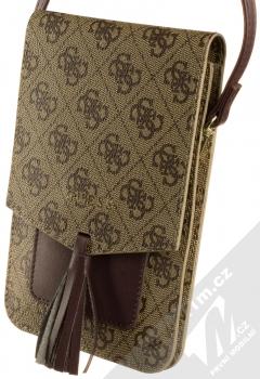 Guess 4G Wallet Universal univerzální pouzdro kabelka s kapsičkami (GUWBSQGBE) hnědá (brown)