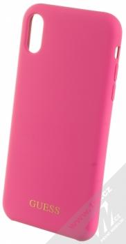 Guess Silicone Logo ochranný kryt pro Apple iPhone XR (GUHCI61LSGLPI) sytě růžová (hot pink)