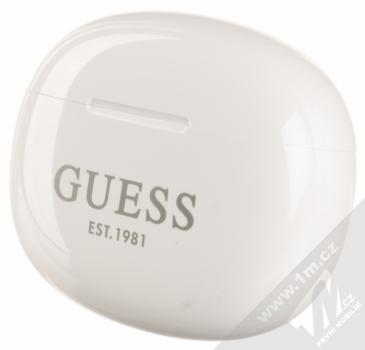 Guess TrueWireless Bluetooth Earbuds módní stereo sluchátka (GUTWS1CWH) bílá (white) nabíjecí pouzdro