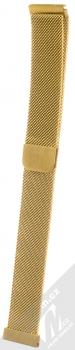 Handodo Milanese Loop magnetický pásek z leštěného kovu na zápěstí pro Samsung Galaxy Watch Active zlatá (gold)