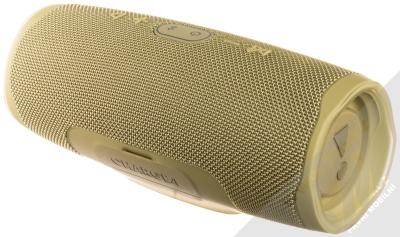 JBL CHARGE 4 voděodolný výkonný Bluetooth reproduktor a záložní zdroj béžová (sand) zezadu