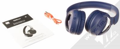 JBL TUNE 500BT Bluetooth stereo sluchátka modrá (blue) balení