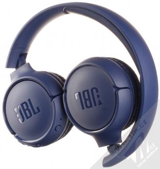 JBL TUNE 500BT Bluetooth stereo sluchátka modrá (blue) složené