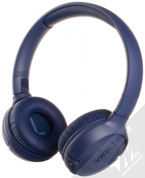 JBL TUNE 500BT Bluetooth stereo sluchátka modrá (blue) zezadu