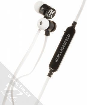 Karl Lagerfeld Bluetooth Stereo Earphones módní stereo headset s tlačítkem bílá (white)