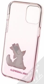 Karl Lagerfeld Fun Choupette No Rope ochranný kryt s motivem pro Apple iPhone 12 Pro Max (KLHCP12LCFNRCPI) růžová průhledná (pink transparent) zepředu