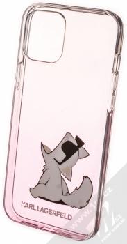 Karl Lagerfeld Fun Choupette No Rope ochranný kryt s motivem pro Apple iPhone 12 Pro Max (KLHCP12LCFNRCPI) růžová průhledná (pink transparent)