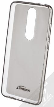 Kisswill TPU Open Face silikonové pouzdro pro Nokia 5.1 Plus černá průhledná (black) zepředu