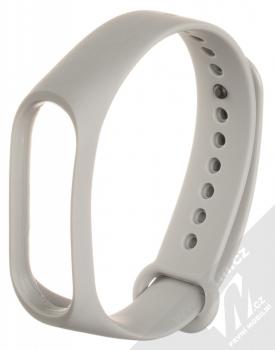Maikes Color Strap silikonový pásek na zápěstí pro Xiaomi Mi Band 3, Mi Band 4 šedá (grey)