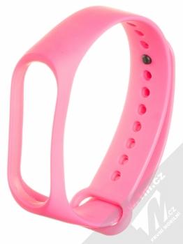 Maikes Color Strap silikonový pásek na zápěstí pro Xiaomi Mi Band 3, Mi Band 4 sytě růžová (hot pink)
