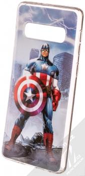 Marvel Kapitán Amerika 003 TPU ochranný silikonový kryt s motivem pro Samsung Galaxy S10 modrá (blue)
