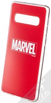 Marvel Logo 002 TPU ochranný silikonový kryt s motivem pro Samsung Galaxy S10 červená (red)
