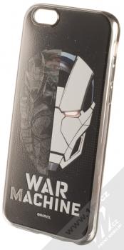Marvel War Machine 001 TPU pokovený ochranný silikonový kryt s motivem pro Apple iPhone 6, iPhone 6S stříbrná (silver)