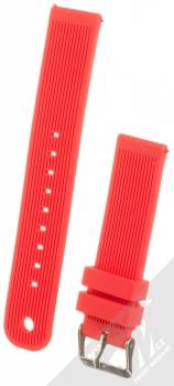 MiJobs Vertical Lines Silicone Wrist Strap silikonový pásek na zápěstí pro Xiaomi Amazfit Bip, Amazfit GTR, Amazfit GTS, Samsung Galaxy Watch 42mm, Galaxy Watch Active, Gear S2 Classic, Gear Sport červená (red)