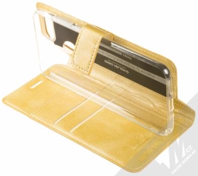 Molan Cano Issue Diary flipové pouzdro pro Huawei Y6 Prime (2018), Honor 7A zlatá (gold) stojánek