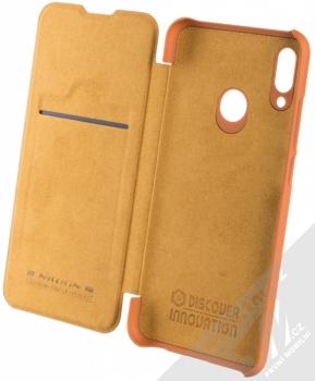 Nillkin Qin flipové pouzdro pro Huawei P Smart (2019) hnědá (brown) otevřené