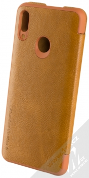 Nillkin Qin flipové pouzdro pro Huawei P Smart (2019) hnědá (brown) zezadu
