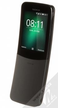 Nokia 8110 4G Dual SIM černá (black) šikmo zepředu