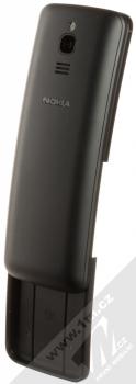Nokia 8110 4G Dual SIM černá (black) šikmo zezadu otevřené