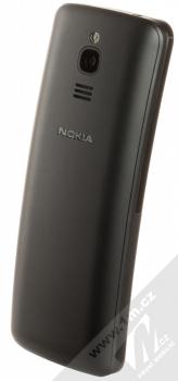 Nokia 8110 4G Dual SIM černá (black) šikmo zezadu