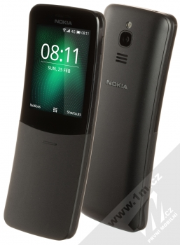Nokia 8110 4G Dual SIM černá (black) šikmo