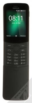 Nokia 8110 4G Dual SIM černá (black) zepředu otevřené