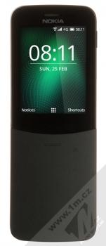 Nokia 8110 4G Dual SIM černá (black) zepředu