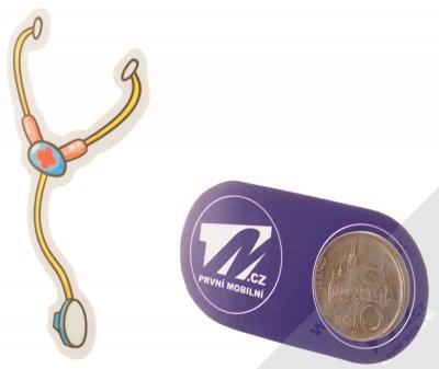 Samolepka Doktorský stetoskop 1 měřítko