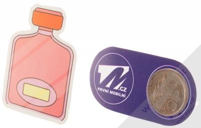 Samolepka Lahvička parfému růžová 1 měřítko