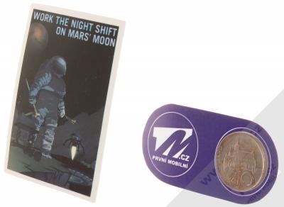 Samolepka Zapoj se do noční šichty na Měsíci Marsu 2 měřítko