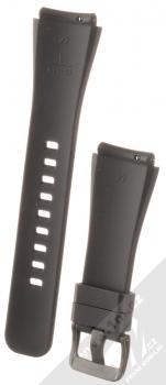 Samsung Strap silikonový pásek na zápěstí velikost L pro Samsung Galaxy Gear S3 Frontier černá (black) zepředu