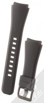 Samsung Strap silikonový pásek na zápěstí velikost L pro Samsung Galaxy Gear S3 Frontier černá (black)