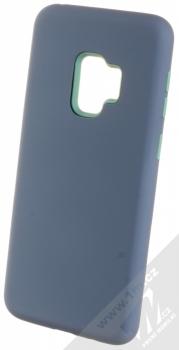 Sligo Defender Solid odolný ochranný kryt pro Samsung Galaxy S9 tmavě modrá mátově zelená (navy blue min