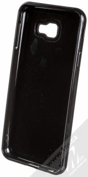 Sligo Liquid Glitter Black Geometric ochranný kryt s přesýpacím efektem třpytek pro Samsung Galaxy J4 Plus (2018) zelená (green) zepředu