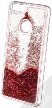 Sligo Liquid Glitter Full ochranný kryt s přesýpacím efektem třpytek pro Huawei P Smart červená (red) animace 5