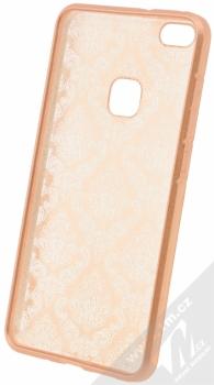 Sligo Ornament TPU ochranný kryt s motivem pro Huawei P10 Lite růžovo zlatá (rose gold) zepředu