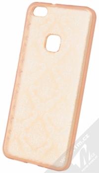 Sligo Ornament TPU ochranný kryt s motivem pro Huawei P10 Lite růžovo zlatá (rose gold)