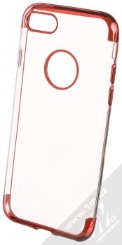 Sligo Plating Soft TPU pokovený ochranný kryt pro Apple iPhone 7, iPhone 8 červená (red)