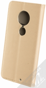 Sligo Smart Magnet flipové pouzdro pro Moto G7 zlatá (gold) zezadu