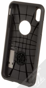Spigen Tough Armor odolný ochranný kryt se stojánkem pro Apple iPhone XS Max kovově šedá (gunmetal) zepředu