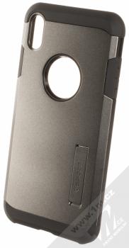 Spigen Tough Armor odolný ochranný kryt se stojánkem pro Apple iPhone XS Max kovově šedá (gunmetal)