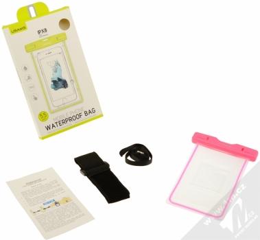 USAMS Luminous 5,5 vodotěsné pouzdro pro mobilní telefon, mobil, smartphone růžová (pink) balení