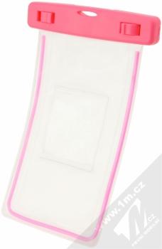 USAMS Luminous 5,5 vodotěsné pouzdro pro mobilní telefon, mobil, smartphone růžová (pink) zezadu