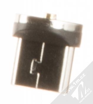 USAMS U-Sure microUSB Plug samostatná magnetická záslepka s microUSB konektorem černá (black) zezadu