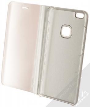 Vennus Clear View flipové pouzdro pro Huawei P10 Lite stříbrná (silver) otevřené