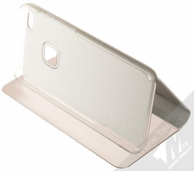 Vennus Clear View flipové pouzdro pro Huawei P10 Lite stříbrná (silver) stojánek