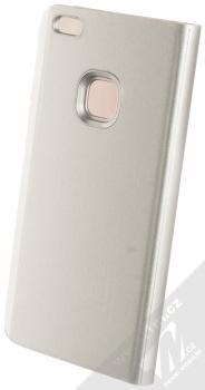 Vennus Clear View flipové pouzdro pro Huawei P10 Lite stříbrná (silver) zezadu