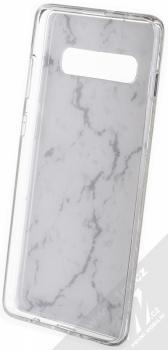Vennus Stone Case ochranný kryt pro Samsung Galaxy S10 Plus bílý howlit (white howlite) zepředu