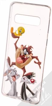 Warner Bros Looney Tunes 001 TPU ochranný silikonový kryt s motivem pro Samsung Galaxy S10 průhledná (transparent)